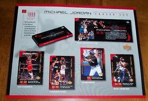 1999 MICHAEL JORDAN  UPPER DECK BASKETBALL -- CAREER SET -- ADVERTISEMENT