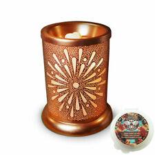 Owlchemy Sunburst Electric wax burner (tart warmer) with light & autumn scents