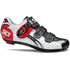 Sidi Genius Fit Carbon Road Bicycle Cycling Shoes White Black Red Size 44 EU