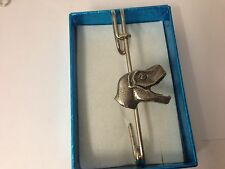 "T-Rex Head REXPIN kilt pin Scarf / Brooch pin pewter emblem 3"" 7.5 cm"