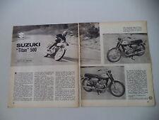 - PROVA MOTOCICLISMO 1970 MOTO SUZUKI T 500 TITAN