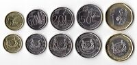 SINGAPORE - NEW ISSUE 5 DIF UNC COINS SET: 5 CENT - 1$ 2013 YEAR