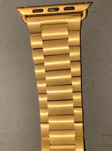 Apple Watch 42mm Deployment Clasp Heavy SS Premium Quality Bracelet Gold - New