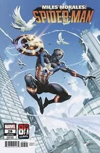 MILES MORALES SPIDER-MAN #28 CAPTAIN AMERICA VARIANT NM VENOM CARNAGE GWEN CLONE
