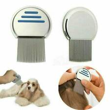 NEW METAL ROUND NIT HAIR GRITTY COMB HANDLE REMOVES HEAD LICE EGGS TOOL
