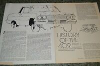"★HISTORY OF THE CHEVY 409 ENGINE ARTICLE PART 1 Z11 Z-11 ""SHE'S REAL FINE MY 409"