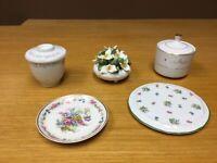 5 pcs. Of Misc. Fine China/Porcelain - Royal Adderley, Haviland, Mikasa & More