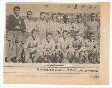 Foto de recorte de prensa del equipo de fútbol Málaga C. F. 1977