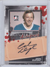 QUEBEC NORDIQUES 2011-12 IN THE GAME ENFORCERS ANDRE DUPONT AUTOGRAPH #A-AD