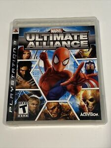 Marvel: Ultimate Alliance (Sony PlayStation 3, 2006) Complete w/Manual CIB