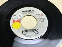 Carpenters Superstar Bless the Beast & the Children Promo WLP 1971 Vinyl 45 RPM