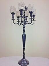 Traditional Metal Wedding 7-arm Candelabra W Crystal Shades 47x47x107cm LargeNEW