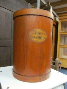 Antike Apothekerdose,XL Apotheker Kräutertrommel,Holz- Apothekerkiste,Vintage