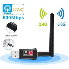 2.4G / 5.8G Dual Band Wireless USB Adapter 600Mbps WiFi Dongle Antenna 802.11AC