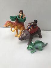 Playskool Lot Definitely Dinosaurs Spinosaurus With Saddle Triceratops More