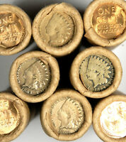 C/N INDIAN / BU WHEAT ~VINTAGE OLD LINCOLN WHEAT CENT ROLL ~ ESTATE