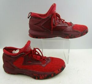 Men's Adidas Red Adidas High Top Lace Up Running Shoes Size : 12