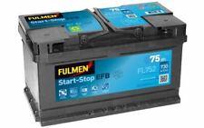 FULMEN Batterie de démarrage 75ah / 730A pour FORD FOCUS C-MAX MONDEO FL752