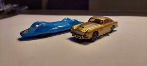 Lot of [2] Corgi Toys Gold James Bond Aston Martin DB5/Proteus Campbell Bluebird