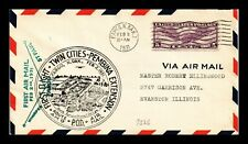 DR JIM STAMPS US COVER FIRST AIR MAIL FLIGHT AM 9 FARGO NORTH DAKOTA