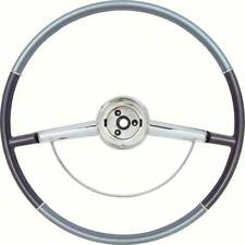 64 Impala Two Tone Blue Steering Wheel With Horn Ring 16""