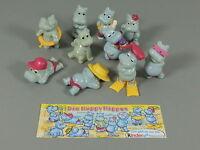 HPF: Happy Hippos 1988 - Komplettsatz + BPZ (100% original)