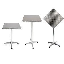 Mojawo® Bistro Stehtisch Aluminium 60x60cm höhenverstellbar Klappbar Balkontisch