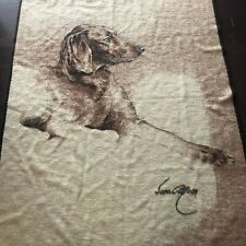 Vintage Biederlack Throw Blanket Dog Setter Sara Moon 57 x 72 Germany