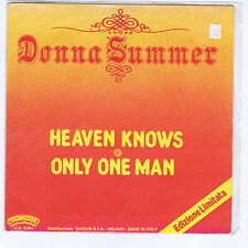 DONNA SUMMER heaven knows / only one man CASABLANCA promo 1978 disco funk Italy