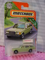 2019 Matchbox #3 MERCEDES-BENZ W123 WAGON ☆Green☆MBX ROAD TRIP 9/20☆case P