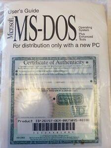 VINTAGE Microsoft MS-DOS 6.22 PLUS ENHANCED TOOLS Full Version - NEW SEALED