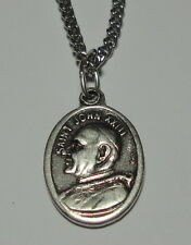 """Pope Saint John XXIII Holy Medal on 24"""" Chain Saved Many Jews in WWII Good Pope!"""