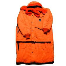 RefrigiWear Mens Hunting Orange Full Insulated Hooded 2 Pc Set Size Large L