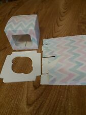 Pack of 6 single cupcake boxes