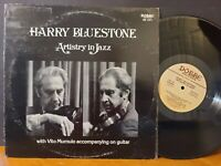 HARRY BLUESTONE WITH VITO MUMULO - ARTISTRY IN JAZZ Vinyl LP VG+