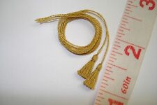 Pair of Mini Old Gold Tassels - for your dollhouse