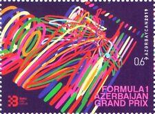 1 Stamp 2019 Azerbaijan Grand Prix . Azerbaijan Stamps. Formula 1