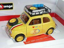 Fiat 500 Ur From Bari To Pechino Rally 1/18 Bburago Burago Modellauto Modell Aut
