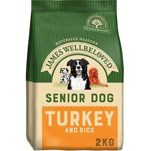 2kg James Wellbeloved Senior Dry Dog Food Biscuits Turkey & Rice