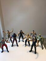 Lot of 13 - 1999 WWF WWE Jakks/Pacific Rock Wrestling Action Figures Titan Tron