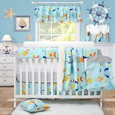 Brandream Nautical Bedding for Baby Boy Crib Bedding Set with Crib Rail Cover...