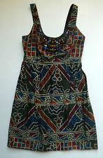 Anthropologie EUC Tesserae Dress by Anna Sui - Beaded Mosaic Print - SZ 6