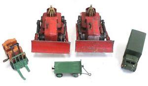 5x Vintage DINKY TOYS Diecast Model Vehicles (FARM/ TRAILOR/ TRUCK) - E29