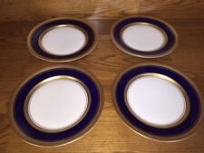 "4 Royal Jackson IMPERIAL COBALT 8"" Salad Plates ~ Excellent"