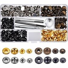 80 Set Snap Fasteners Snaps Button Press Studs 4 Pieces Fixing Tools 12.5 mm