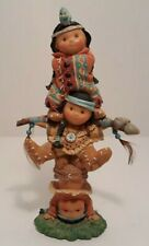 Friends of the Feather Brave Support 3 Children Pole Tower Figurine Enesco