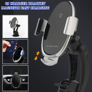 Qi Wireless Charger Bracket 360°Folding Telescopic Stand Suction Cup Phone Stand