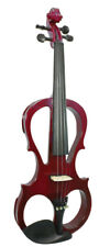 Valentino ve-008 Full Size 4/4 Electric Violin, Red. + Casque. from Hobgoblin