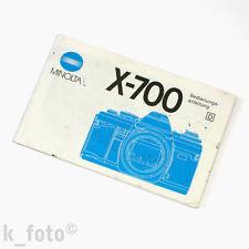 Minolta x-700 manuale d'uso * Manual