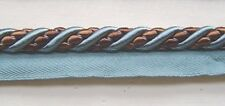 "1/2"" Cording trim with lip Silver Blue Brown Match Braid Bullion Fringe Rosette"